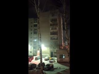 В Кировском районе произошел пожар