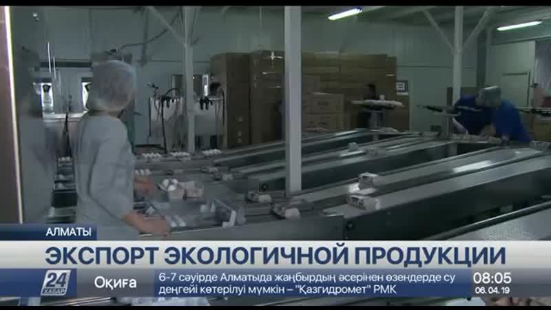 Экологически чистую сельхозпродукцию экспортируют десятки предприятий Алматинско