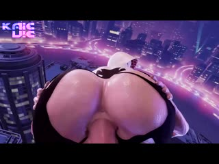 Gwen Stacy - Cowgirl; POV; riding; vaginal fucked; ass view; 3D sex porno hentai; [Spider-Man]