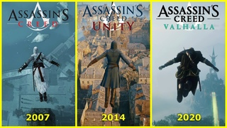 JUMPING from the HIGHEST POINTS in Assassin's Creed (2007-2020) + Valhalla