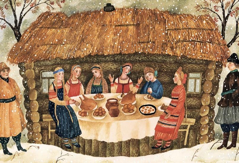 Иллюстрация Веры Павловой из книги «Русские праздники»