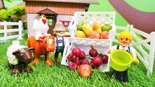 ¡Jugamos en la granja de animales! Juguetes Lego City. Videos para niños pequeños