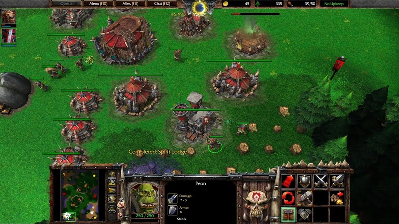 Warcraft 3 Reforged Beta Gameplay, Orc vs Human, 1080p60, Max Settings