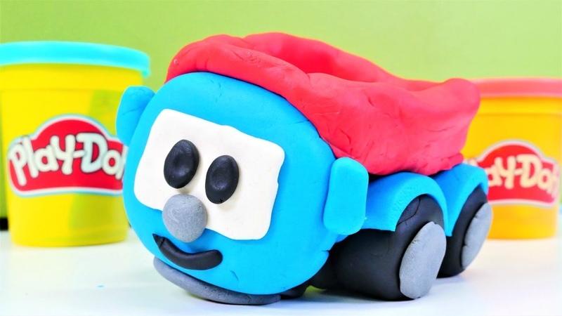 Çocuk videosu. Küçük kamyon Leo Play- Doh oyun hamuru ile. Eğitici hamur oyunları
