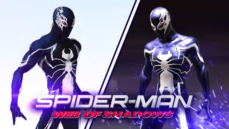 Spider Man Web of Shadows New black suit skin