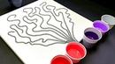Текучее Искусство! Техника флюидного искусства с использованием цепочек для создания красивого букета акриловыми красками!!Акриловая заливка ~ Техника для начинающих художников!! Канал «Wigglz Art».
