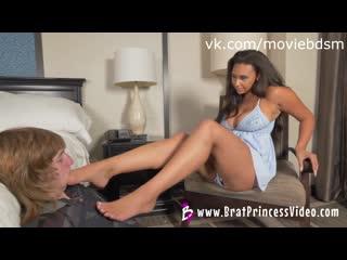 Brat Princess - Adrienne - Abuses a Foot... femdom mistress