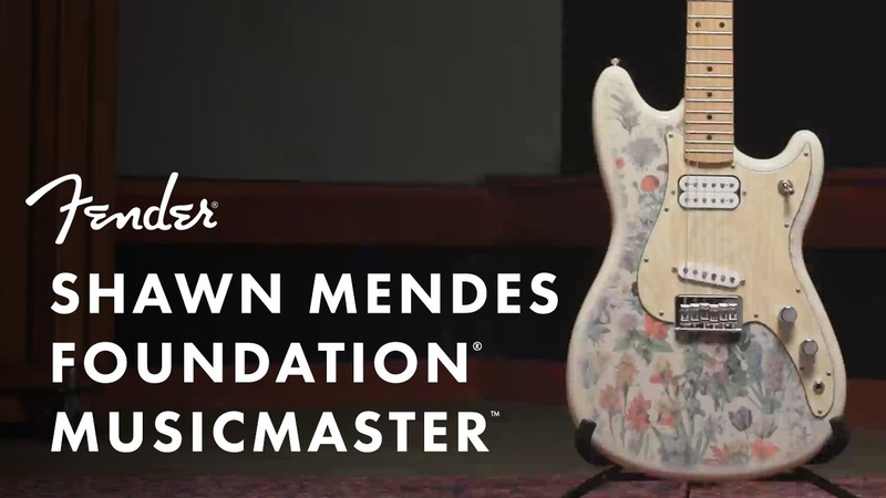 Shawn Mendes Foundation Musicmaster Artist Signature Series Fender