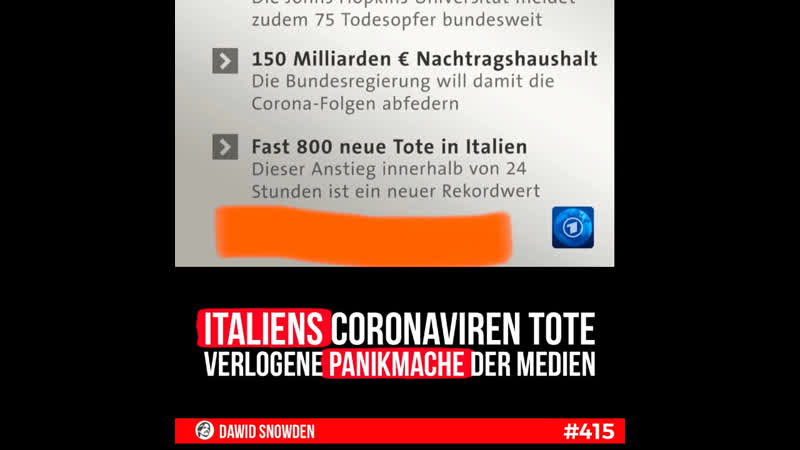 415 Italien Coronavirus Tote verlogene Panikmache der Medien