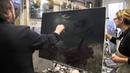 Игорь Сахаров, Ночной пейзаж, живопись для начинающих. Москва