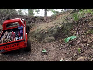 TOYOTA Country ride on the woods+RC models