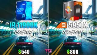 Core i9 11900K vs Ryzen 9 5950X - Test in 8 Games
