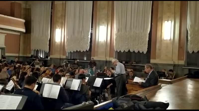 Репетиция С.М.Слонимский Симфонический распев