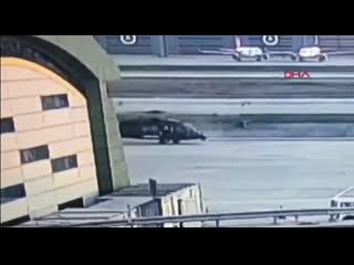 Аварийная ситуация с вертолетом  S-70A турецкой жандармерии