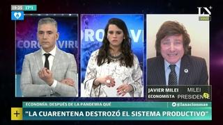 La gente está despertando, lo confirman las marchas, aún hay esperanza Javier Milei en LN+,16/8/20