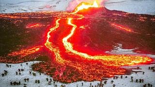 2 GIANT CRATERS! Huge Lava Eruption in Iceland. Geldingadalur Volcano Eruption (May 9, 2021)