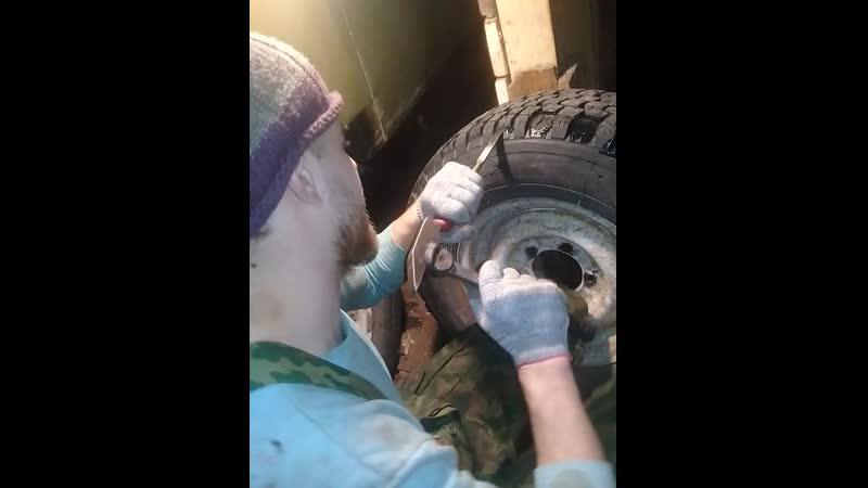 Гораж в Белогоречье нарезка шины И 520 пилигрим