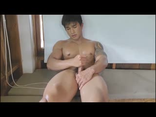 Cute asian gay boy solo sex