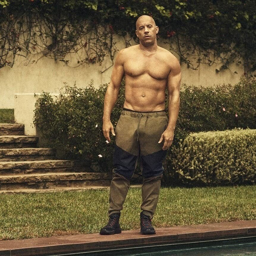 52-летнйи актёр Вин Дизель поддерживает себя в отличной форме