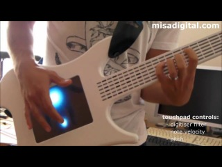 Электрогитара Misa Digital без струн, но с сенсорным мультитач-дисплеем