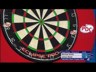 Michael Smith vs James Wade (PDC Gibraltar Darts Trophy 2014 / Semi Final)