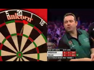 Gary Anderson vs Brendan Dolan (World Grand Prix 2014 / First Round)