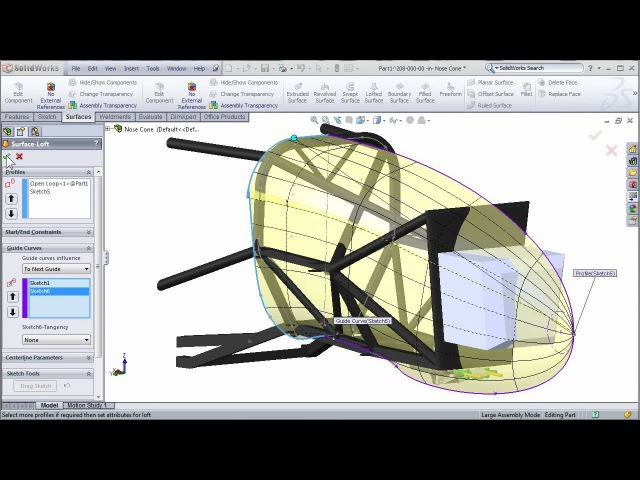 SolidWorks Surfacing to Create FSAE Body Work Part 1