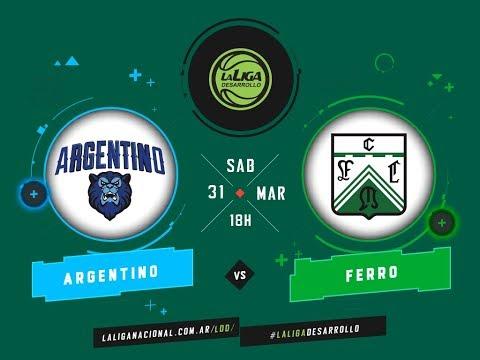 LaLigadeDesarrollo 31 03 2018 Argentino de Junín vs Ferrocarril Oeste