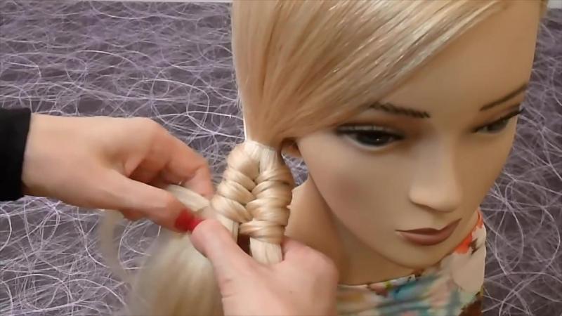 Прическа Необычная коса на каждый день_ в школу, на работу для средних и длинных волос » FreeWka - Смотреть онлайн в хорошем качестве