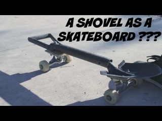 CRAZY! Skateboarding with a SHOVEL - Totti Thiago