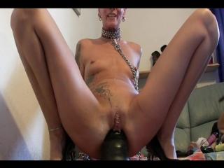 Gigantic anal dildo fucking [фистинг, анал, fisting, brutal dildo, big toys, extreme insertion, gape]