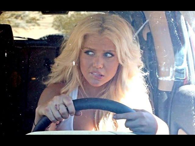 СтопХам 2015 StopHam Неадекватный Девушка за рулем Жёсткая блондинка!