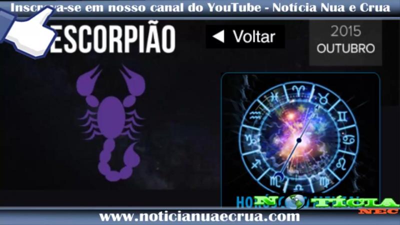 Horóscopo mensal de Escorpião Outubro de 2015