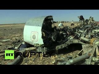 Египет: Российские следователи приступил к работе на месте крушения Синай.