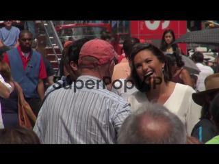 Danny Pino and Mariska Hargitay talking to each other
