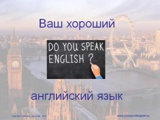 Урок английского языка. Начальный уровень. Порядок слов в английском языке.
