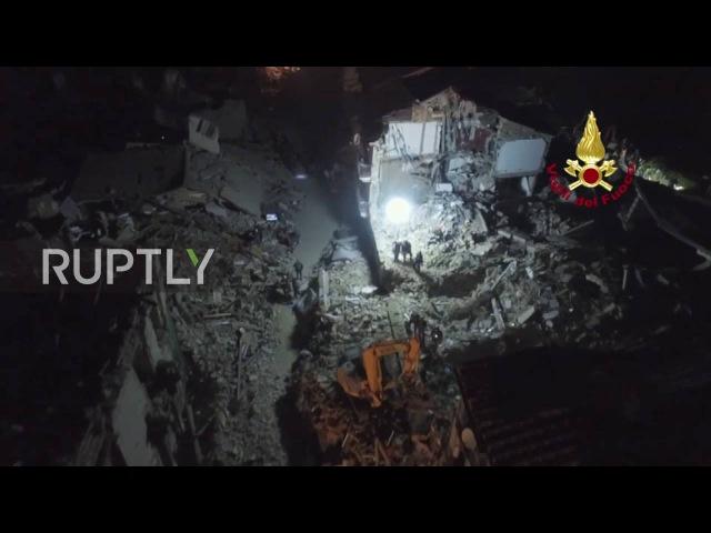 Италия Число погибших в Аматриче поднимается до 247 как нон стоп спасательной операции продолжается