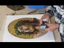 How an artistic mosaic is made-Realizzazione di un mosaico artistico