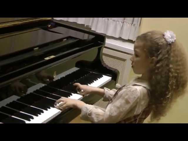 Varvara Kutuzova 9yo Варвара Кутузова Бах 3-хголосная инвенция a-moll