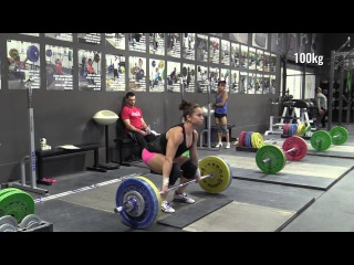 Blake Barnes (69kg) and Alyssa Sulay (63kg) Cleans On the Minute