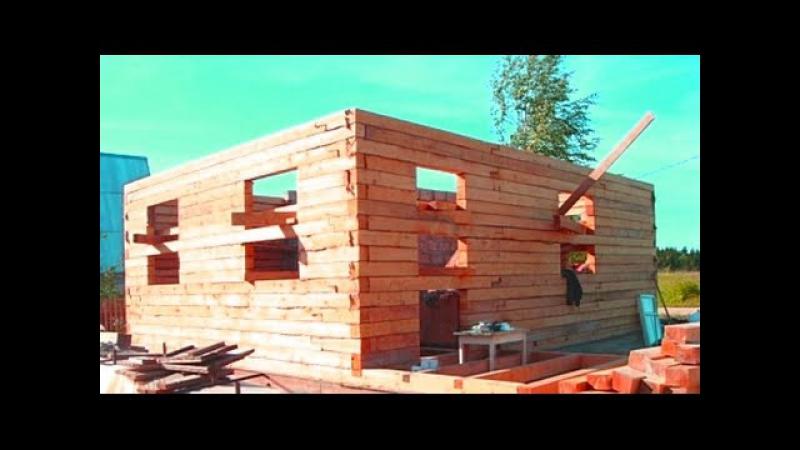 Сруб брус дом оседает / Сруб осадка / Стена из бруса осадка / Log cabin timber house settles