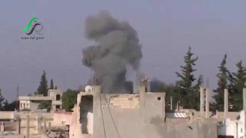 Russian air strike hit al Ghanṭū n Hama suburb while loudspeakers blaring out a fighter jet warning