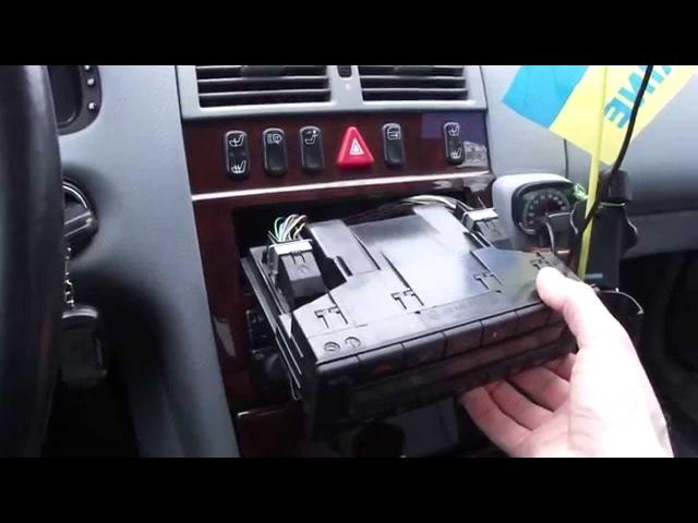 Замена лампы на климат контроле Mercedes W210 climate control light bulb replacement