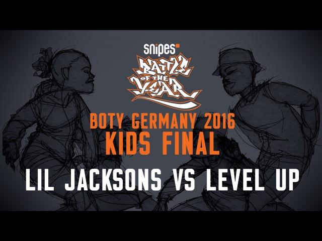 BOTY GERMANY 2016 - KIDS FINAL - LIL JACKSONS VS LEVEL UP [BOTYTV]