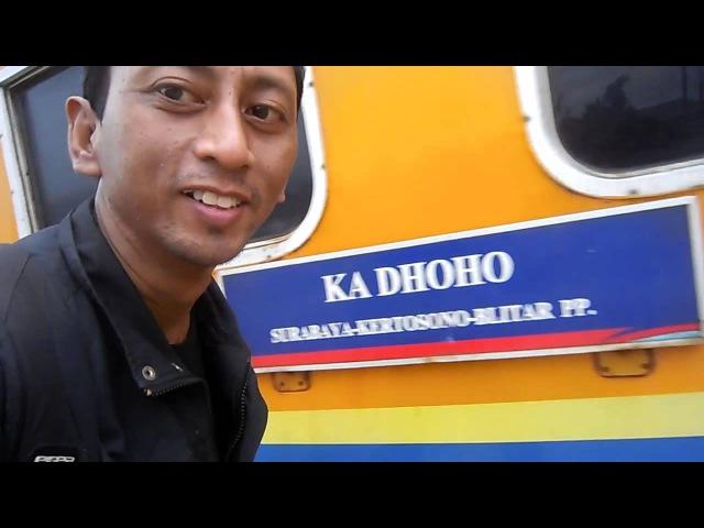 (1) NAIK KERETA API DHOHO PENATARAN dari STASIUN SEPANJANG menuju PARE KEDIRI