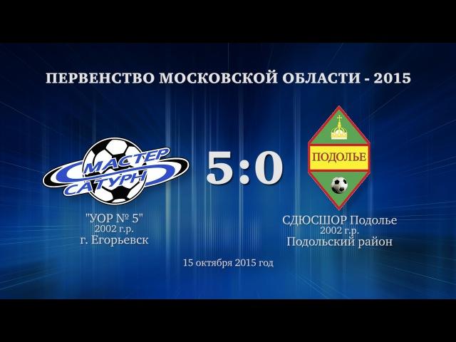 Матч команды 2002 г р 15 октября 2015 год
