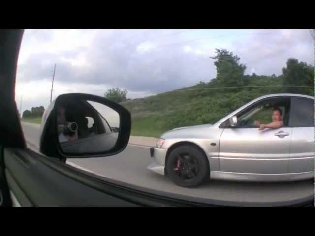 Nissan GT-R vs. Lancer Evo IX 500 л.с