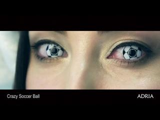 Crazy soccer ball цветные линзы adria.