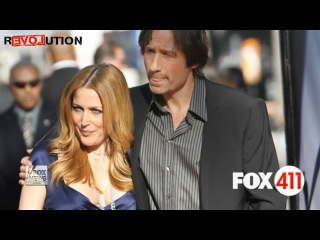 X Files Stars | David Duchovny and Gillian Anderson Spotted Smooching on Set