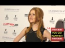 Katherine McNamara at the LA Art Show And Los Angeles Fine Art Show's 2016 Opening Night Premiere Pa